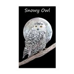Snowy Owl and Moon Sticker (Rectangle 10 pk)