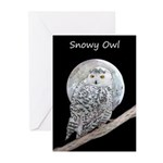 Snowy Owl and Moon Greeting Cards (Pk of 10)