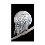Snowy Owl and Moon 20x12 Wall Decal