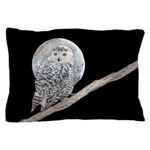 Snowy Owl and Moon Pillow Case
