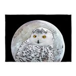 Snowy Owl and Moon 5'x7'Area Rug