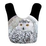 Snowy Owl and Moon Polyester Baby Bib
