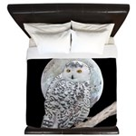 Snowy Owl and Moon King Duvet