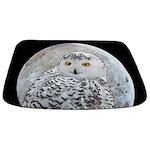 Snowy Owl and Moon Bathmat