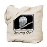 Snowy Owl and Moon Tote Bag