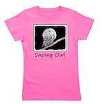 Snowy Owl and Moon Girl's Tee