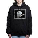 Snowy Owl and Moon Women's Hooded Sweatshirt