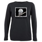 Snowy Owl and Moon Plus Size Long Sleeve Tee