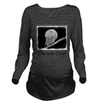 Snowy Owl and Moon Long Sleeve Maternity T-Shirt
