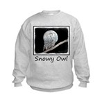 Snowy Owl and Moon Kids Sweatshirt