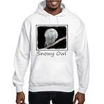 Snowy Owl and Moon Hooded Sweatshirt