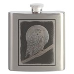 Snowy Owl and Moon Flask