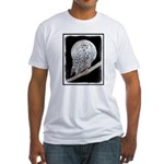 Snowy Owl and Moon Fitted T-Shirt