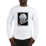 Snowy Owl and Moon Long Sleeve T-Shirt
