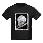 Snowy Owl and Moon Kids Dark T-Shirt