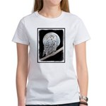 Snowy Owl and Moon Women's Classic White T-Shirt