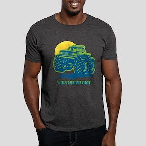 How I Roll Monster Truck Dark T-Shirt