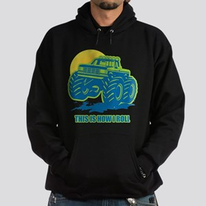 How I Roll Monster Truck Hoodie (dark)