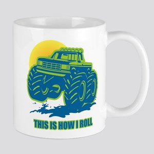 How I Roll Monster Truck Mug