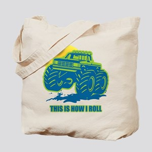 How I Roll Monster Truck Tote Bag