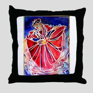 Fiesta! Colorful, Dancer! Throw Pillow