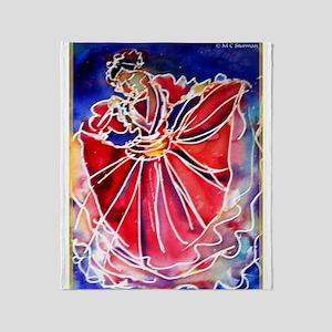 Fiesta! Colorful, Dancer! Throw Blanket