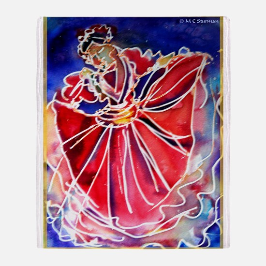 Fiesta! Colorful, Dancer! Throw Blanket