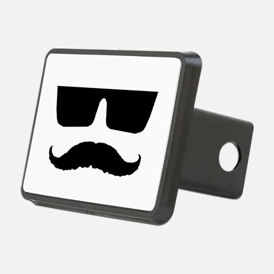 Cool mustache and glasses Hitch Cover