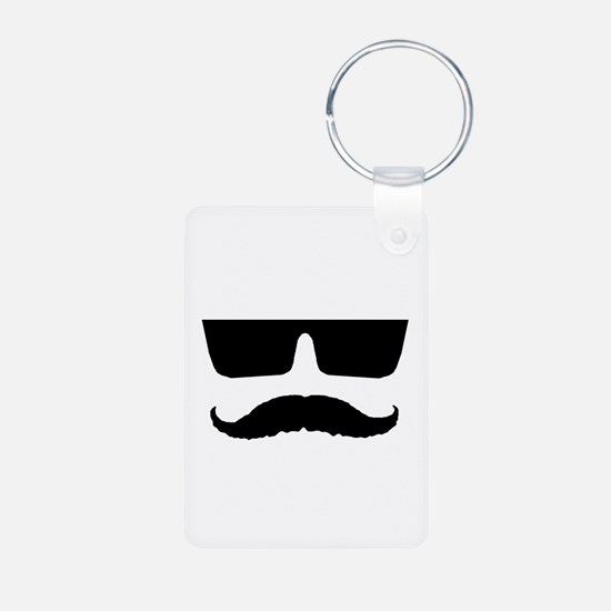 Cool mustache and glasses Keychains