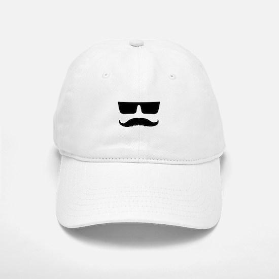 Cool mustache and glasses Baseball Baseball Cap