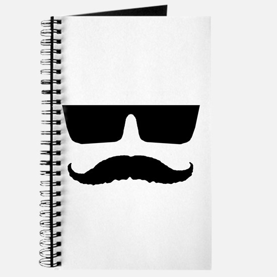 Cool mustache and glasses Journal