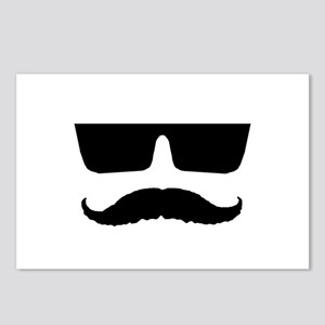 Cool mustache and glasses Postcards (Package of 8)