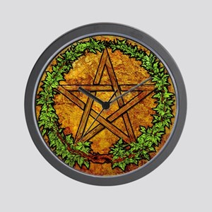 Wooden_Pentacle2_Color.png Wall Clock