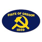 New Oregon Flag Oval Sticker