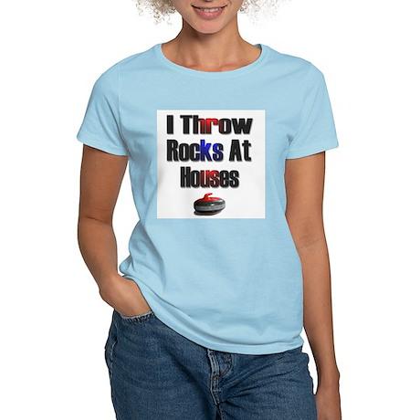 I Throw Rocks at Houses Women's Pink T-Shirt