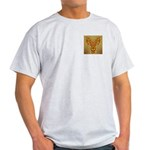 Golden Quetzalcoatl Ash Grey T-Shirt