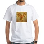 Golden Quetzalcoatl White T-Shirt