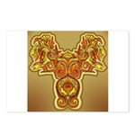 Golden Quetzalcoatl Postcards (Package of 8)