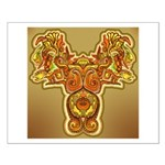 Golden Quetzalcoatl Small Poster
