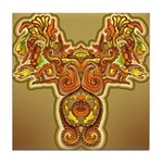 Golden Quetzalcoatl Tile Coaster