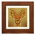 Golden Quetzalcoatl Framed Tile
