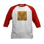 Golden Quetzalcoatl Kids Baseball Jersey