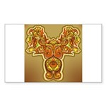 Golden Quetzalcoatl Rectangle Sticker