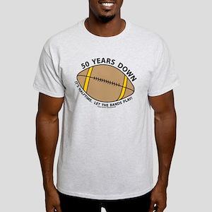 50th Birthday Football Light T-Shirt