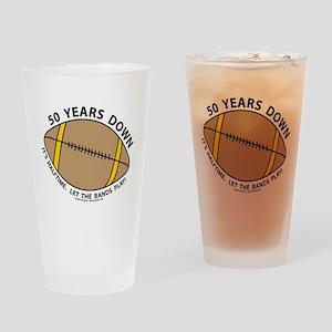 50th Birthday Football Drinking Glass