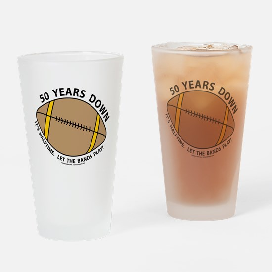 50th Birthday Football Drinking Glass