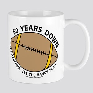 50th Birthday Football Mug