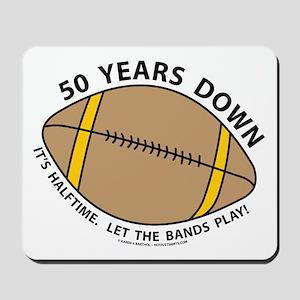 50th Birthday Football Mousepad