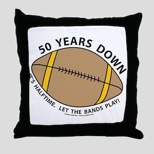 50th Birthday Football Throw Pillow