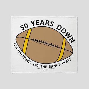 50th Birthday Football Throw Blanket